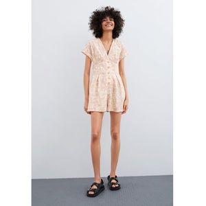 Zara Printed rustic jumpsuit romper